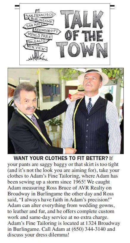 Ross Bruce of AVR Realty chooses Adam's Fine Tailoring